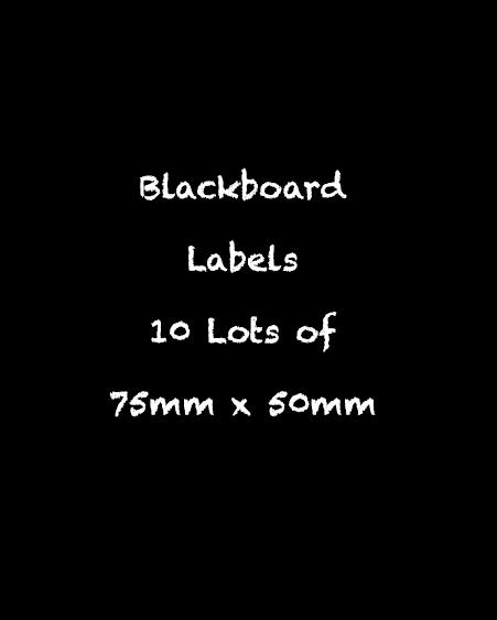 blackboard labels
