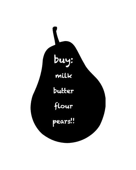 blackboard pear