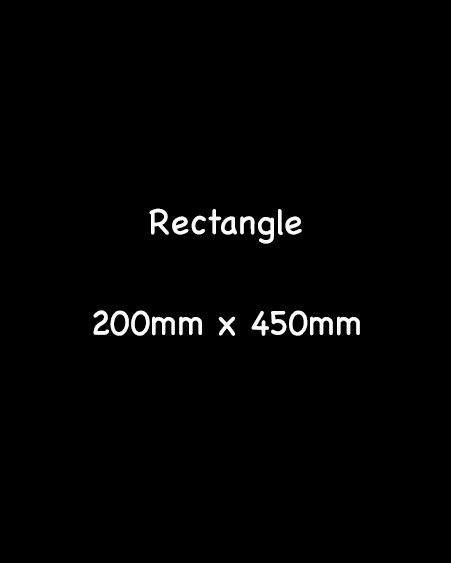 blackboard rectangle 200mm x 450mm
