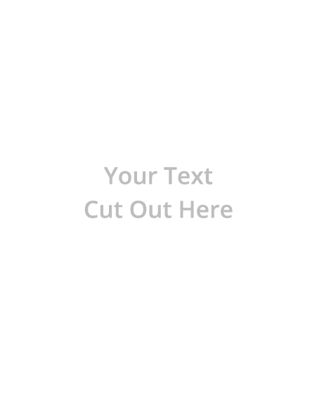 text-cut out