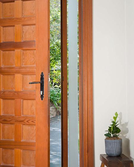 Plain Frost Front Door