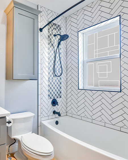 Custom Design Bathroom Film