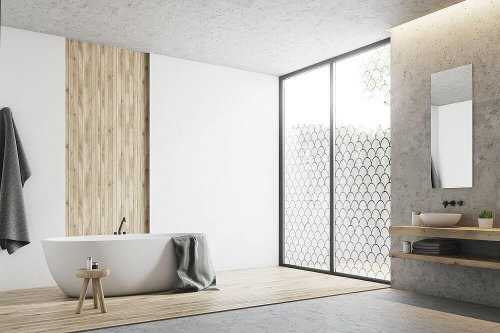 decorative frosted glass window film - bathroom window